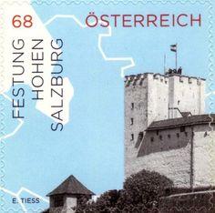 Sello: Hohensalzburg Fortress (Austria) (Impessions from Austria) Mi:AT 3192,ANK:AT 3213