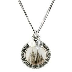 Salt Lake Temple Cameo Necklace