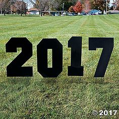 Celebrate your graduate with this 2017 Yard Sign! This sign will leave no doubt where the party is and why you're celebrating. Plant it in the front yard ...