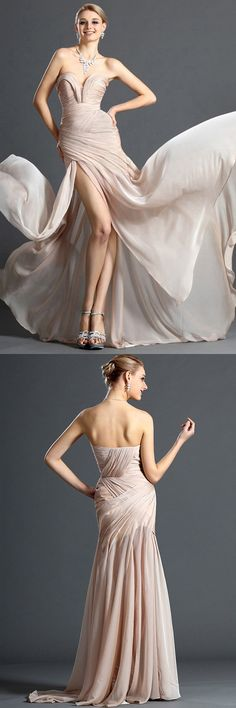 V-neck Prom Dresses Long, Sexy Party Dresses for Teens, Country Prom Dresses 2018, Modest Formal Evening Gowns Simple