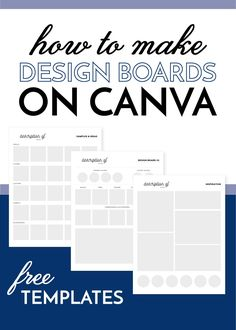 How To Make Design Boards on Canva (with Video & FREE Templates!)