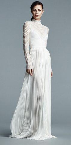 J. Mendel Shows Modern Floral Wedding Dresses for Spring 2017 – DiMagio