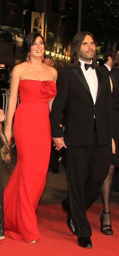Wearing a gorgeous red gown by Azzi & Osta to Cannes Film Festival (2011)