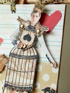 paper doll tutorial via banana frog blog #paper #toys #dolls