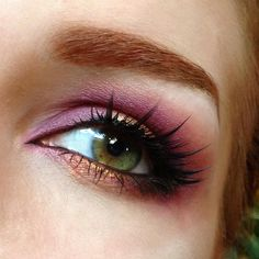 beautiful pink & copper colours....love the lashes too <3