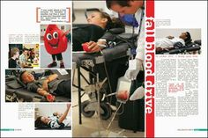 yearbook spread- blood drive