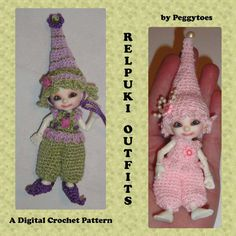 SALE RealPuki Hat Romper Outfit and Elf Shoes Digital by Peggytoes, $5.25