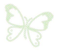Butterfly - rhinestone  template