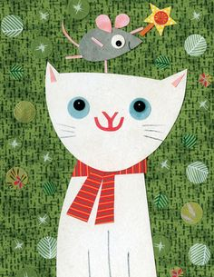 """""""Cat and Mouse"""" cards - artwork by Kate Endle"""