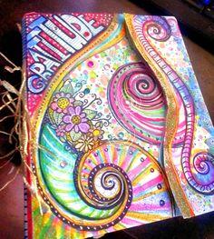 My new Handmade Mixed Media Gratitude Art Journal…inspired by Valerie Sjodin of http://visualblessings.blogspot.com/