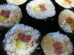 Spam Sushi! (A friend used to make this all the time -- pretty good actually -- really!)