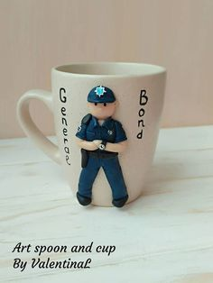 This item is unavailable Police Officer Gifts, Police Gifts, Happy Coffee, Best Coffee Mugs, Gifts For Surgeons, Polymer Clay Recipe, Cute Mug, Medical Gifts, Clay Mugs
