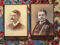Two 1800s Boston Gentlemen with Fabulous Mustaches by surfbeaver, $15.00