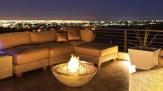 Mix Fire Bowls by EcoSmart Fire combine the traditional look of an outdoor fire pit with today's contemporary design.