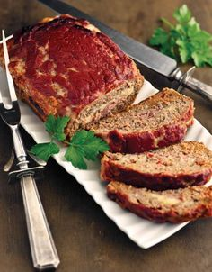 "Double Click Slowly on Pic for Recipe..Low Carb Beefed-Up Meatloaf.. by George Stella ...visit us at ""Low Carbing Among Friends"" on Facebook"