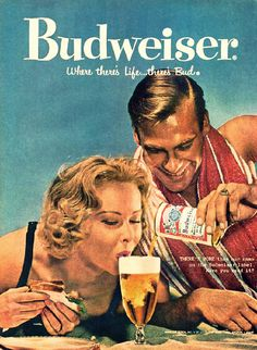 Budweiser ad. Playful and adult.