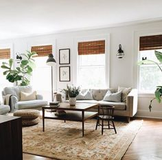 Minimalist living room designs are about less being more! Try these easy ways to accomplish the look and feel of more space and less stuff. My Living Room, Home And Living, Living Room Decor, Living Spaces, Living Room Blinds, Small Living, Living Room Inspiration, Home Decor Inspiration, Boho Home