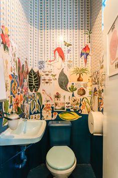 Gallery of Botanique Café. Plantas / Moca Arquitetura - 5 Gallery of Bot. Gallery of Botanique Café. Plantas / Moca Arquitetura – 5 Gallery of Botanique Café. Design Café, House Design, Design Ideas, Tiny Powder Rooms, Café Bar, Magical Home, Powder Room Design, Interior Decorating, Interior Design