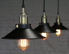 Acier luminaire Edison - pendentif lampe - plafonnier - suspension style industriel Lampe - ampoule edison - - ligthing DIY set - 110V-250V