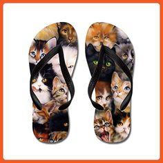 c314ad0b03fa92 Lplpol Cats Flip Flops Sandals Flip Flops for Adults M with Black Flip Flops  Belt -