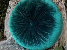 Petroleum-green silk velvet