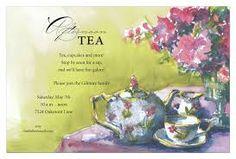 vintage tea party invitation template - Google Search