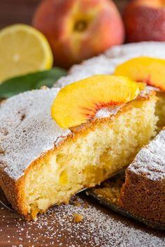 No Bake Desserts, Delicious Desserts, Dessert Recipes, Kitchen Recipes, Baking Recipes, Peach Cake Recipes, Gluten Free Carrot Cake, Bolo Cake, Summer Cakes