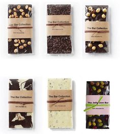 zoë's chocolate simple, effective packaging. highlights the product! Artisan Chocolate, Chocolate Brands, Chocolate Shop, Chocolate Bark, Chocolate Gifts, Homemade Chocolate, Brownie Packaging, Bread Packaging, Bakery Packaging