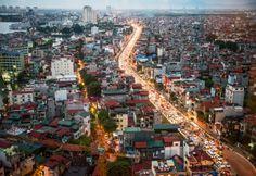 Traffic moves along a road in Hanoi, Vietnam, on Friday, Sept. 14, 2012. (Justin Mott/Bloomberg/Getty Images)