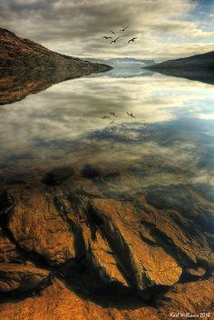 Loch Katrine Rocks (1) by Shuggie!!, via Flickr