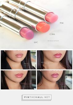 Dior Addict Lip Glow Color Reviver Lip Balms in Pink, Coral and Lilac - The Beauty Look Book Dior Lip Glow, Sheer Lipstick, Dior Addict, Chanel Makeup, Lip Balms, Natural Glow, Lip Tint, Hey Girl, Skin Makeup