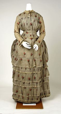 Dress (image 1) | American | 1880 | cotton | Metropolitan Museum of Art | Accession Number: C.I.39.56.2a, b