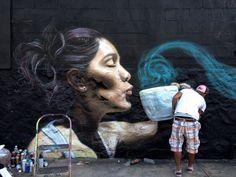 Diego Zelaya, DF. Mural / Street Art | re-pin by http://www.cupkes.com/