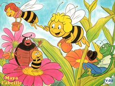 Maya l'abeille! I lived for this French cartoon lol!!
