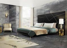 10 Luxus-Möbel zu einem modernen Frühling Schlafzimmer Design | KOI gold und Marmor Beistelltisch von Brabbu als Nachttisch. APACHE Tischlamp aus Holz und Marmor gemacht, und DAYLAN Weiss Sessel auch von Brabbu. Design Inspirationen und Wohnideen zu einem modernen Schlafzimmer Einrichtung. | http://wohn-designtrend.de/luxus-moebel-einem-modernen-fruehling-schlafzimmer-design/