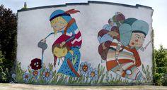 "Kelly-Towles: ""Crazy Gardening""  mural in D.C."