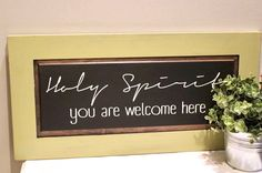 A personal favorite from my Etsy shop https://www.etsy.com/listing/494010592/holy-spirit-wood-sign-rustic-holy-spirit
