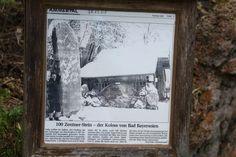 100 Zentner Stein, der Koloss von Bad Bayersoien - Infotafel. Soier See, Bad Bayersoien, Ammergauer Alpen