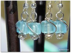 NorthShore Days.....: Sea Glass Wire Wrapped Earrings Tutorial. Supplies: sea glass beads: http://www.ecrafty.com/c-780-sea-glass-beads.aspx?pagenum=1===newarrivals=60