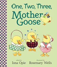 One, Two, Three, Mother Goose by Iona Opie http://www.amazon.com/dp/0763687669/ref=cm_sw_r_pi_dp_RGybxb1J0ADKS