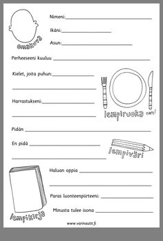 Ystäväni-kirja Teaching Kindergarten, Teaching Kids, Pre School, Back To School, Finnish Language, Nursery School, Therapy Tools, Primary Education, Classroom Inspiration