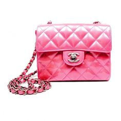 0bbc63bd54a48b Pre-Owned Chanel Pink Patent Mini Flap Bag (12.070 HRK) ❤ liked on Polyvore  featuring bags, handbags, quilted crossbody purse, mini handbags, pink  patent ...