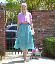 The Stylish Bisou Outfit Chronicles: Teal and Fuchsia