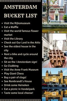 amsterdam bucket list