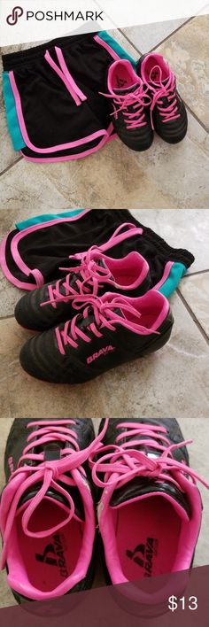 a03314746 Kids Brava soccer cleats Pink and black girls soccer cleats. Used one  season so are