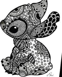 Coloriage Stitch Fille.137 Meilleures Images Du Tableau Coloriage Difficile Disney