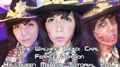 The Walking Dead: Carl Female Version ♡ 3 Makeup Looks (Halloween)  https://www.youtube.com/watch?v=nYDPCPfA8F0