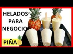 Discover recipes, home ideas, style inspiration and other ideas to try. Vegan Ice Cream, Make Ice Cream, Pineapple Ice Cream, Ice Ice Baby, Ice Pops, Drinks Alcohol Recipes, Protein Breakfast, Dessert Recipes, Desserts