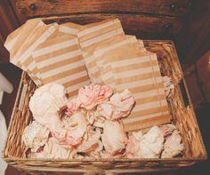 Dessert favor bags via sincerelyarizona