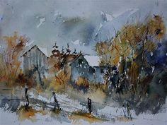 "Daily+Paintworks+-+""watercolor+512122""+-+Original+Fine+Art+for+Sale+-+©+Pol+Ledent"